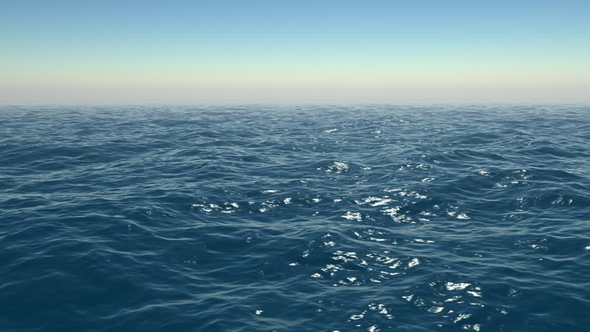 Flying over Ocean - HD stock video clip