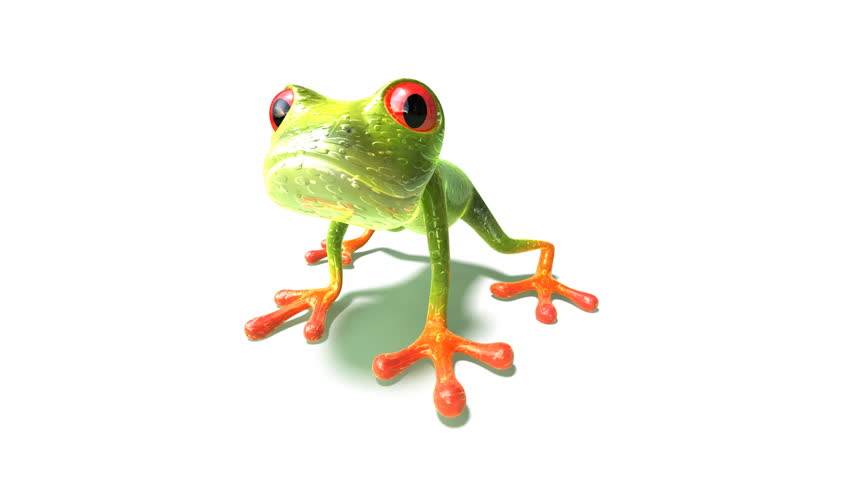 Frog (loopable) - HD stock footage clip