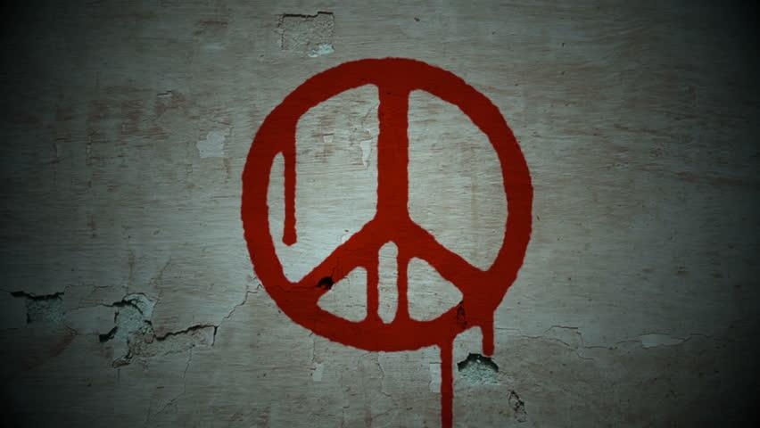 Bleeding peace - HD stock footage clip