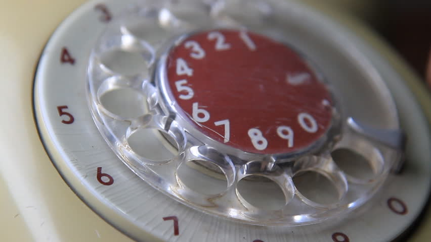 close-up view on old telephone dial  - HD stock video clip