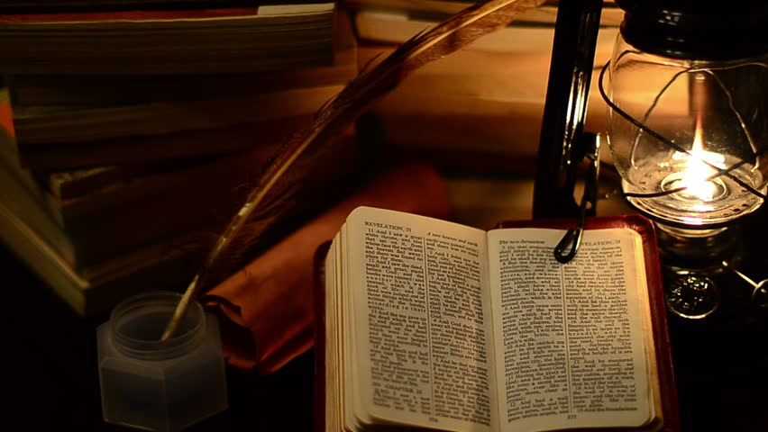 lamp and bible - photo #25