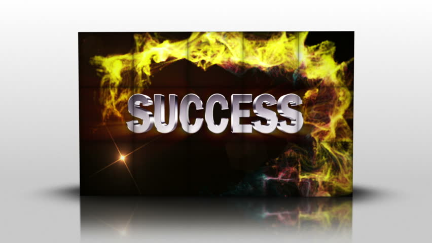Success Text in Cubes, with Green Screen