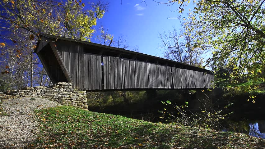 Switzer Covered Bridge, Kentucky - HD stock footage clip