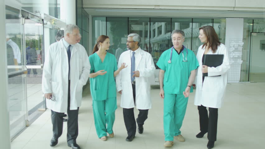 Assisting people when life throws unexpected obstacles in your way. A hospital ward or waiting area where patients can by seen by doctors and nursing staff. - HD stock footage clip