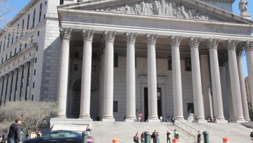 Courthouses in New York City circa 2011 - HD stock footage clip