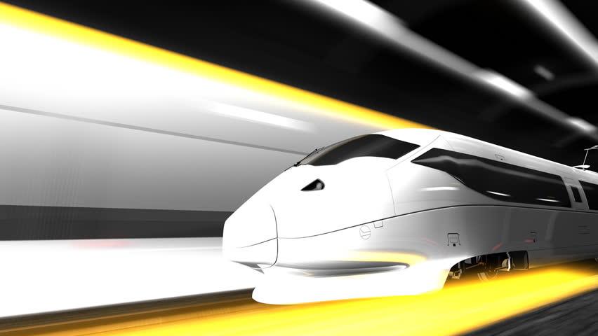 High speed rail. - HD stock footage clip