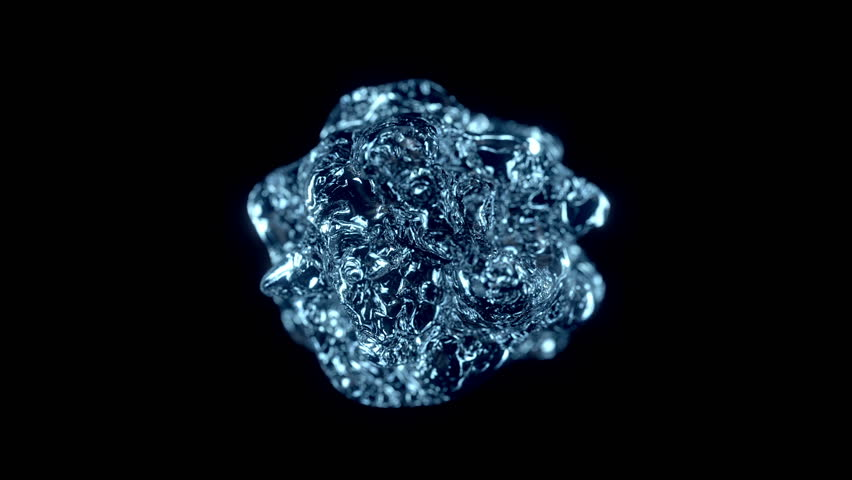 Water explosion on black (cg ,slow motion,with alpha matte, full hd) - HD stock footage clip