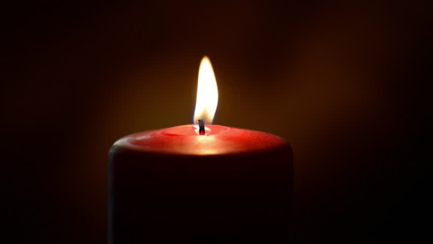 Red candle burning - HD stock footage clip