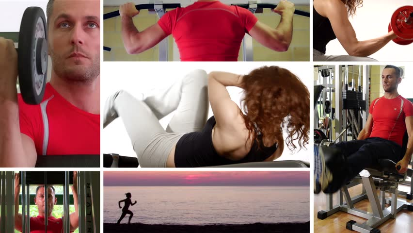 being fit, collage