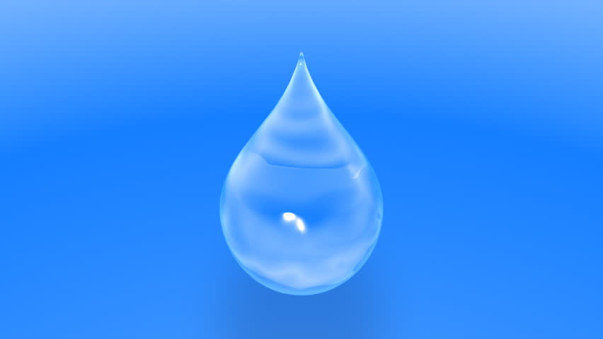 Falling Water Drop Ani...