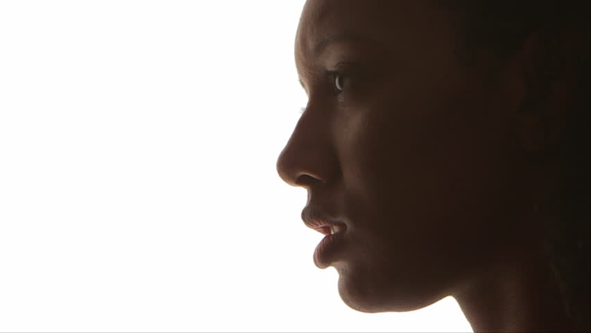 Profile of black woman
