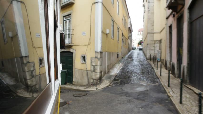 Lisbon, Portugal - September 10th, 2012: The famous tram 28 in Lisbon