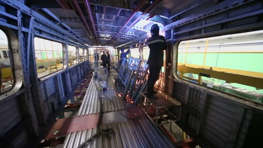 Mytishchi Russia  city pictures gallery : Mytishchi Metrovagonmash factory on 18 April 2012, Mytishchi, Russia ...