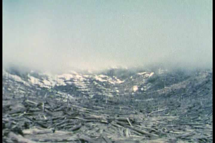 1980s - Mount St. Helens Eruption In 1980. Stock Footage ...