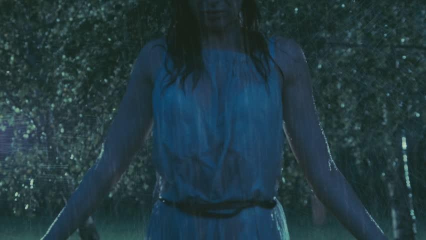 Sad Woman In The Rain Stock Footage Video 4864715 ...