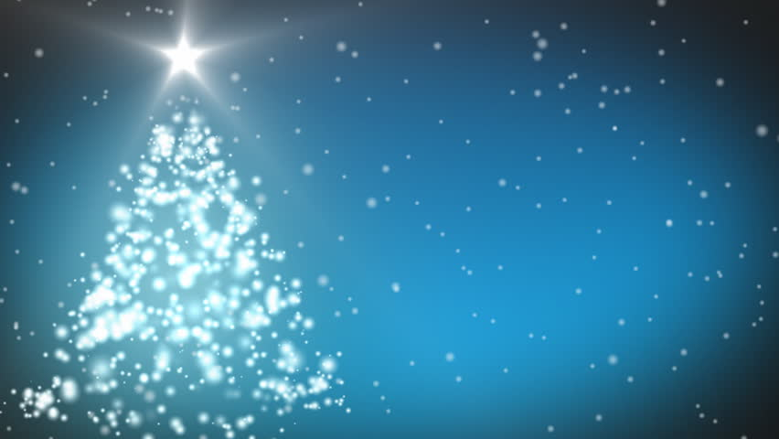 Animation of a Christmas Tree - HD stock video clip