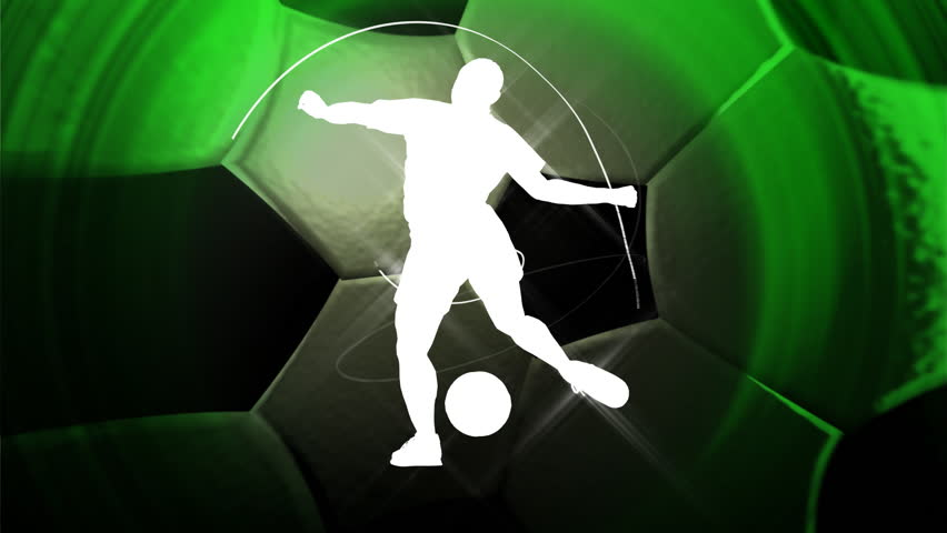 soccer background, HD 1080p, seamless loop - HD stock video clip