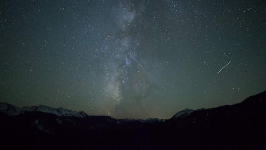 Time Lapse of Milky Way in Rocky Mountains