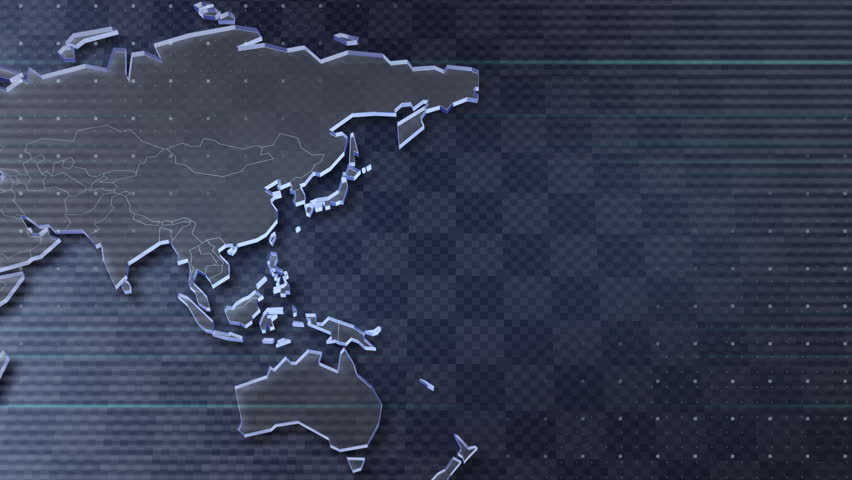 World Map. - HD stock footage clip