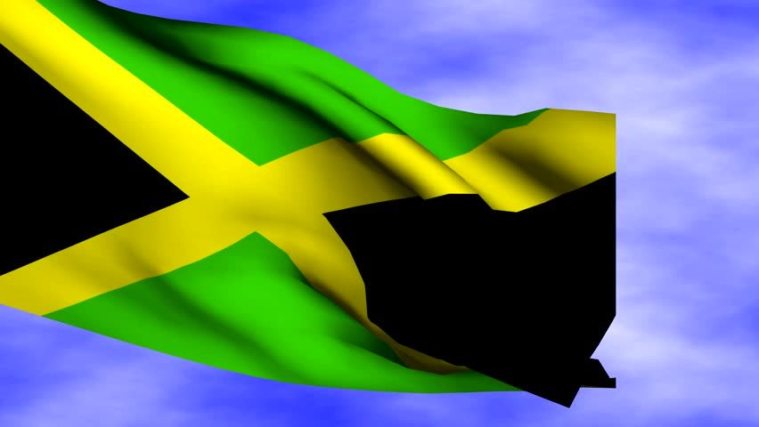 Kingston Text With Fluttering Jamaican Flag Animation Stock ...