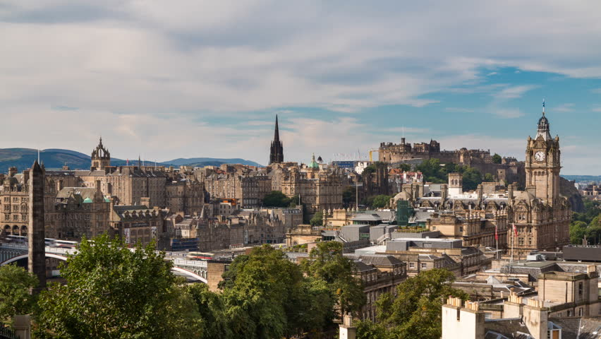 Edinburgh old town Timelapse from carlton hill (available in 4K)