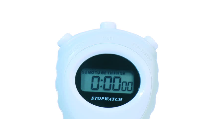 Stop watch -1  - HD stock video clip