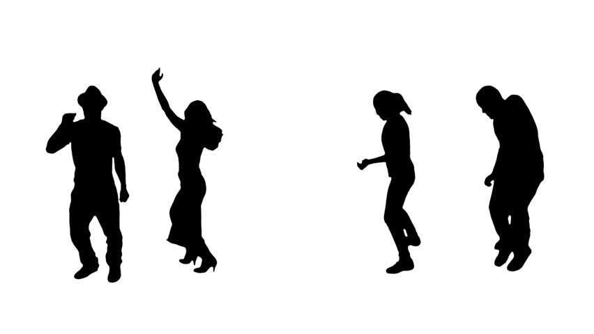 Hip Hop Dancers. Silhouettes. More options in my portfolio.