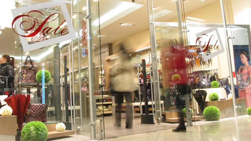 Sale in shop   - HD stock video clip