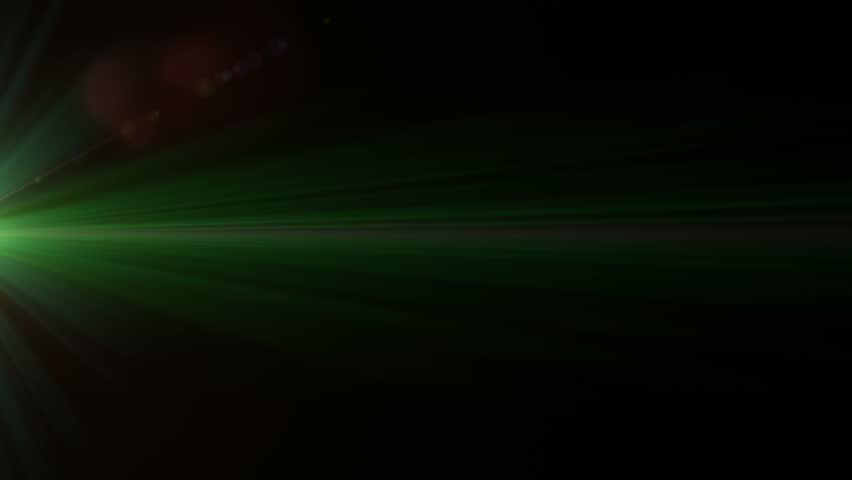 Lens Flare Effect On Black Background (fast Twinkling