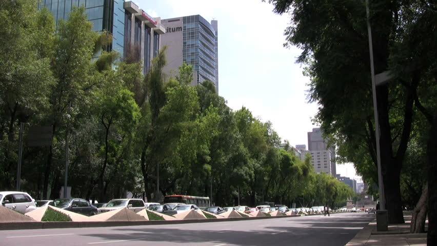 Mexico City, Paseo de la Reforma - HD stock footage clip