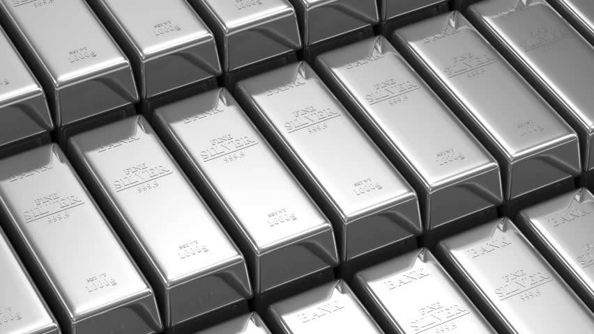 Stack of Silver Bars. Seamless Looping Animation
