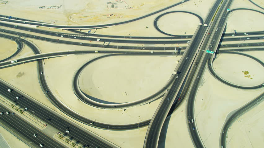 Aerial view of The Creek Extension expressway Business Bay, Dubai, UAE, RED EPIC, 4K, UHD, Ultra HD resolution