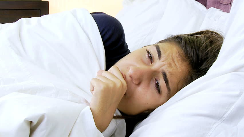Sic woman coughing strong feeling fever