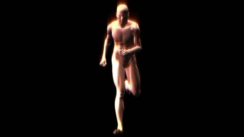 Particles Running Man