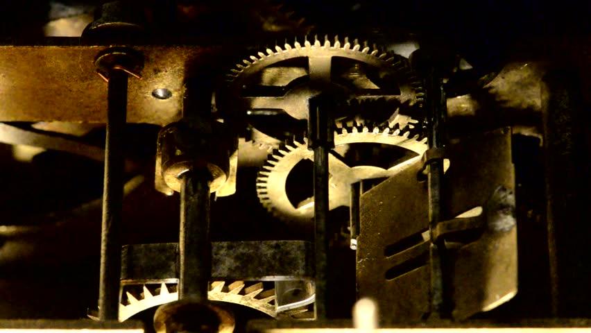 Working old clock mechanism