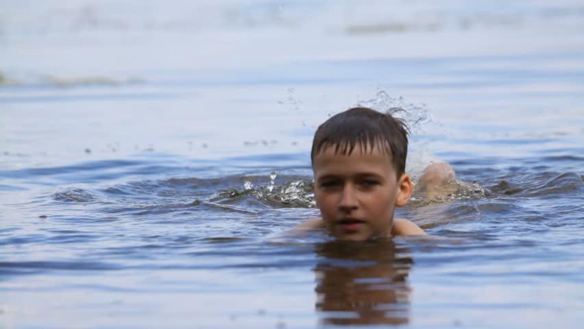 boy swimming river - photo #48