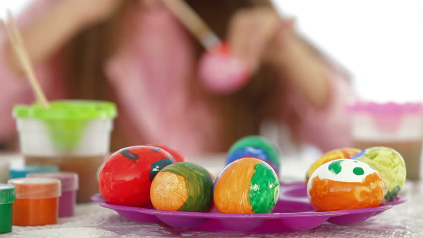 Children Painting And Playing At Kindergarten Stock Footage Video ...