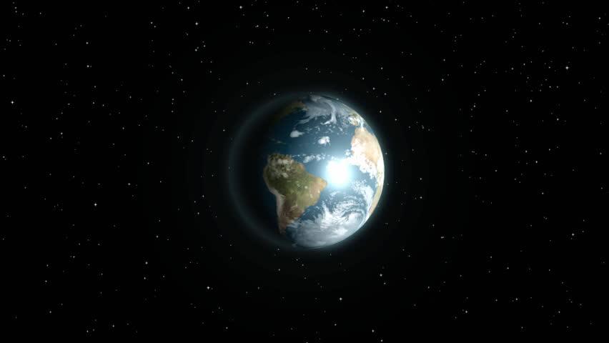 Earth in space intro - HD stock video clip