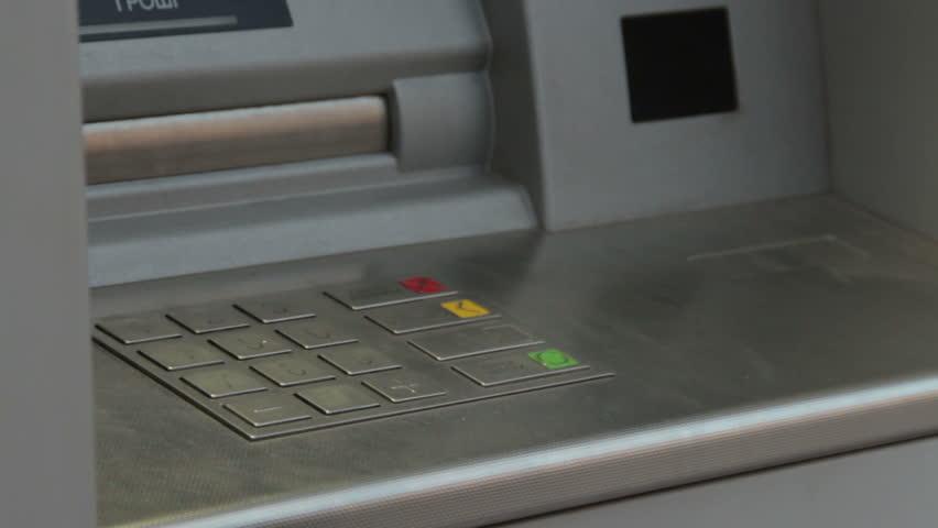 Cash dispenser. atm.  - HD stock footage clip