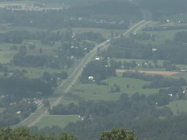 Rural America (town of Luray, Virginia) - HD stock footage clip