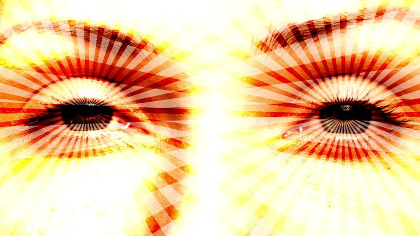 Hypnotizing eyes. Seamless loop.