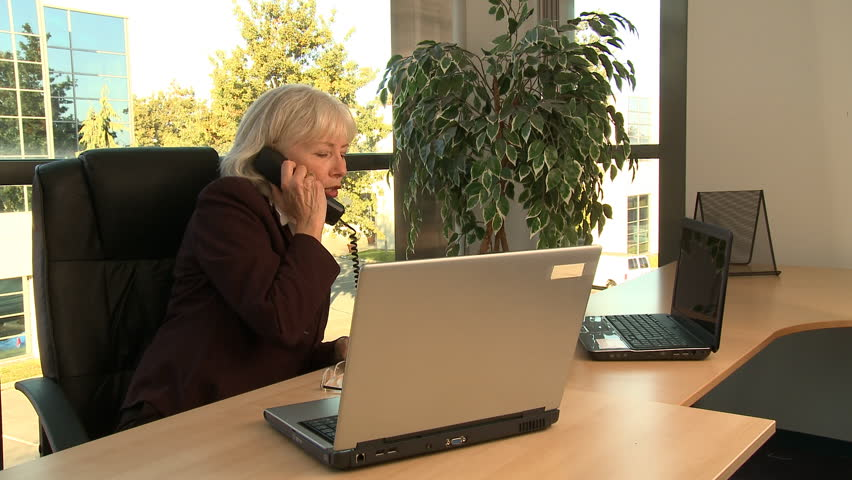 businesswoman at work - HD stock video clip