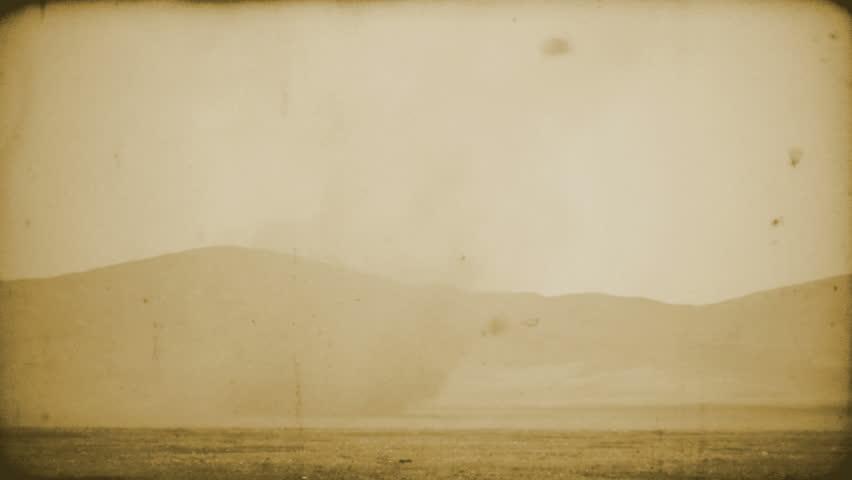 16 october 2009, Morocco. Camel caravan goes across desert storm. - HD stock video clip