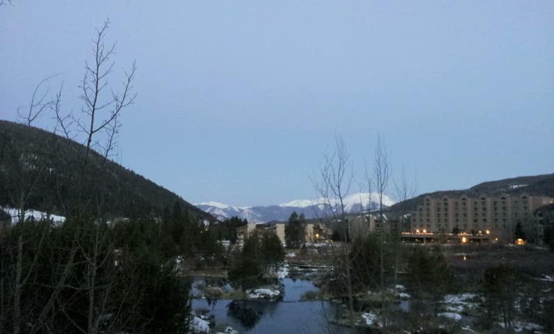 Keystone, Colorado - April, 2013 - Sunrise time-lapse in Keystone.