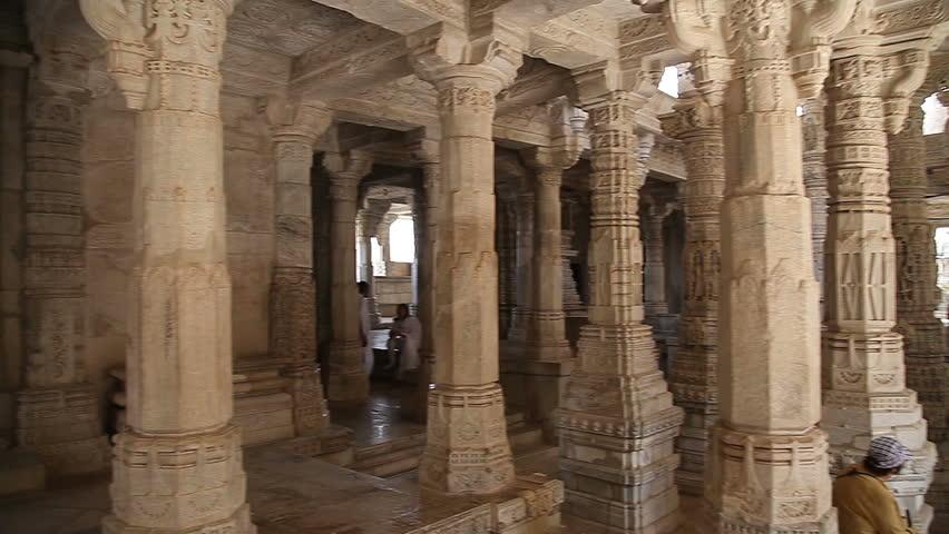UDAIPUR. RAJASTAN. INDIA - JUNE 2013: Ranakpur Jain Temple.