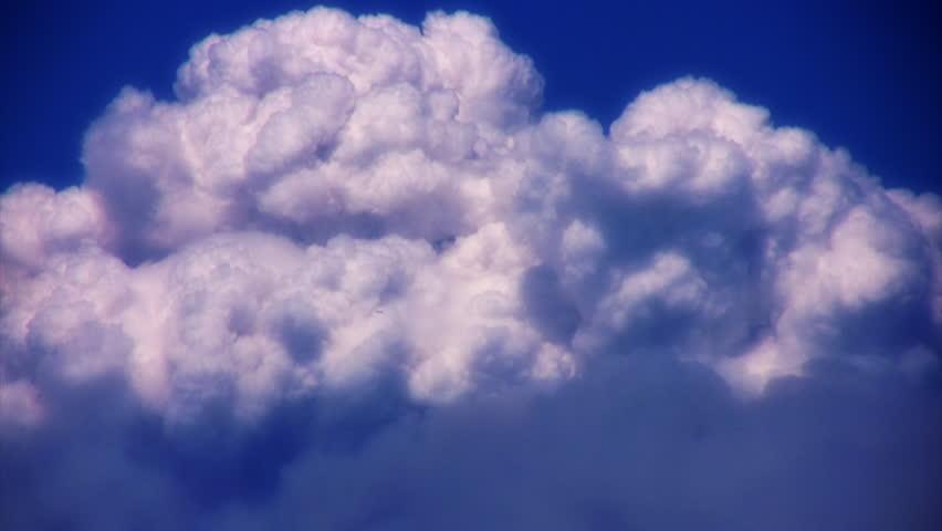 VJ Loop Time Lapse Cumulus Clouds HD 02 - HD stock video clip