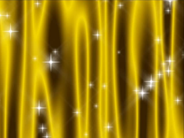 480p loop of abstract vivid yellow curtain with falling and shooting stars. - SD stock video clip