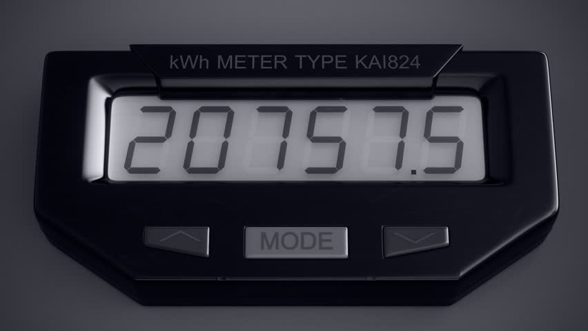 Digital Electric Meter : Digital electricity meter showing household consumption in