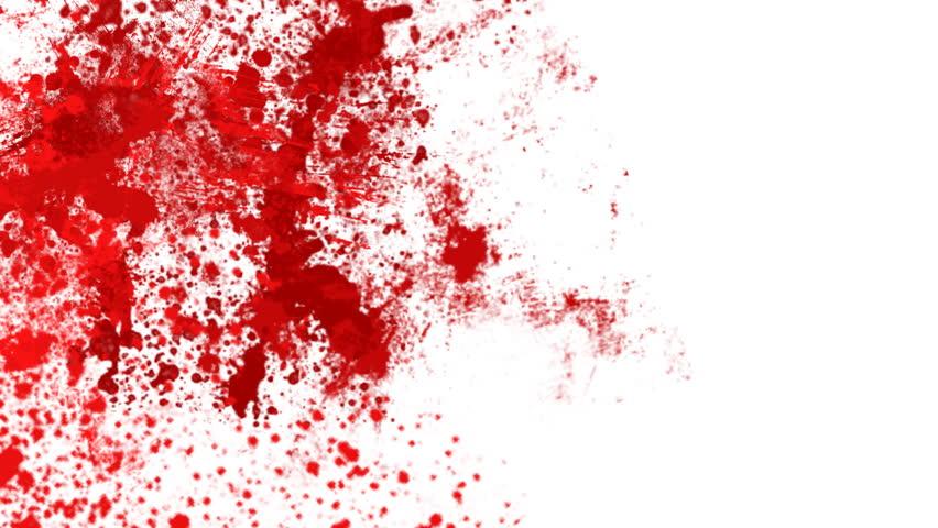 Blood splash - HD stock footage clip
