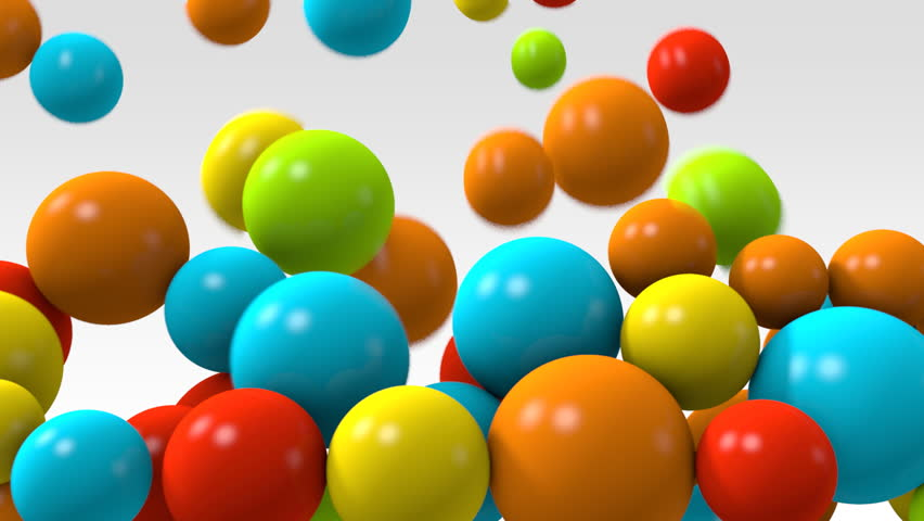 animation of colorful balls falling  stock footage video